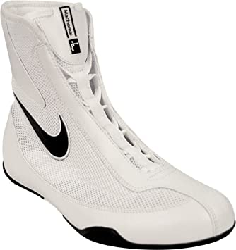 cd75b33c3301a Nike Machomai Boxing Shoes - White Mid Cut: Amazon.co.uk: Sports ...