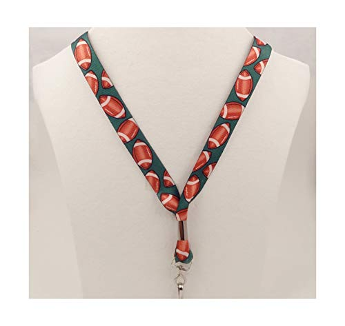 Football - Soft Neck Lanyard for Athletic Use - Key or Badge I.D. Holder