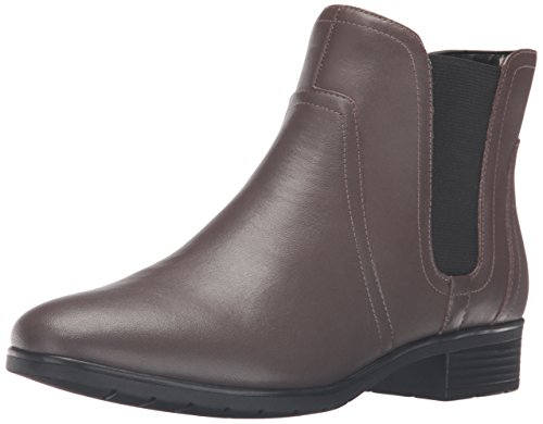 Easy Spirit Womens Nalli Ankle Bootie Dark Taupe/Black