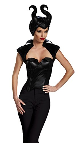 Disguise Women's Disney Maleficent Movie Malefcient Costume Bustier, Black, Medium/8-10 ()