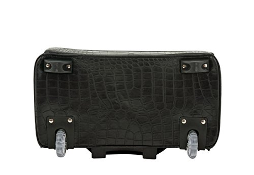 ''The Classic'' Black Alligator Crocodile Rolling iPad Tablet or Laptop Tote Carryall Bag by JKM and Company (Image #3)