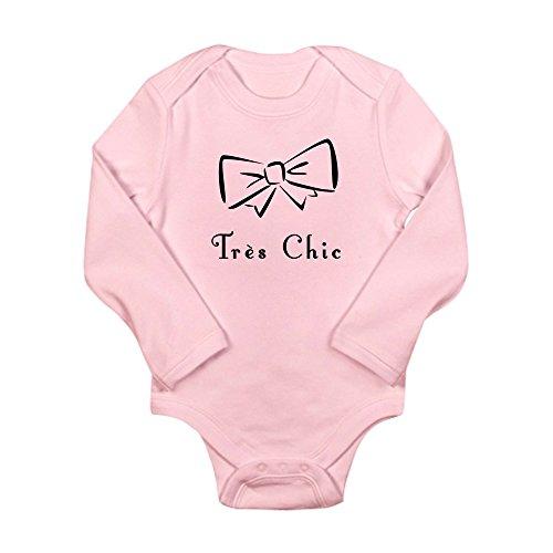 CafePress - Tres Chic bow Long Sleeve Infant Bodysuit - Cute Long Sleeve Infant Bodysuit Baby Romper