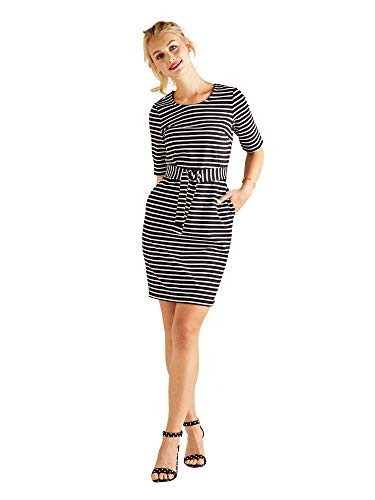 tie Multi Bodycon Self Yumi Dress Waist Stripe w7atqdCyT