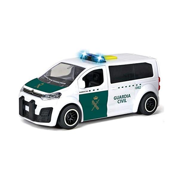 Dickie-Guardia Civil Furgoneta Citröen con Radar 15 cm 1153020 Vehículo de Juguete con función, Color Blanco/Verde 4