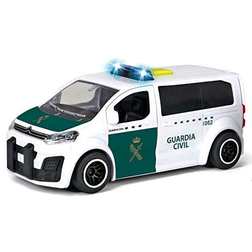 Dickie-Guardia Civil Furgoneta Citröen con Radar 15 cm 1153020 Vehículo de Juguete con función, Color Blanco/Verde 3