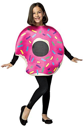 Rasta Imposta Strawberry Donut w/ Bite, Kids One size 7-10 - Donut Costumes Halloween