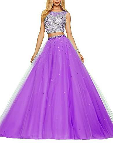 Quinceanera Dresses Ball Prom Gowns Pieces Dress Two Women's 2017 Fanciest Lilac HY8qSwO