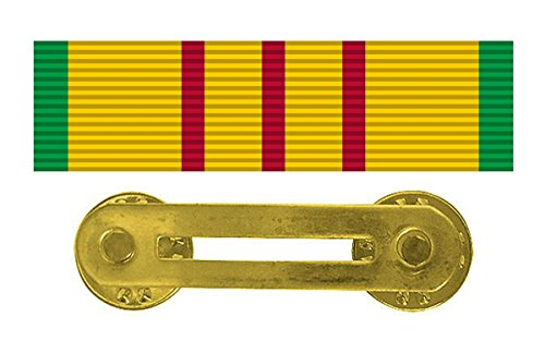 (Vietnam Combat Service Ribbon & Ribbon Holder Bar )