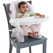 Fisher-Price SpaceSaver High Chair, Pink/White