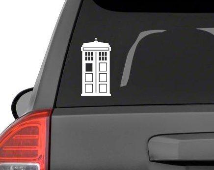 (Large Tardis Vinyl Decal Laptop Car Truck Bumper Window Sticker (8