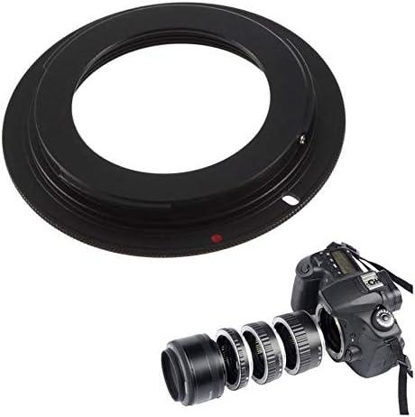 Pudincoco Professional Camera M42 Lentille pour Canon pour EOS EF Adaptateur Monture Anneau 1100D 600D 60D 550D 5D 7D 50D Noir Noir