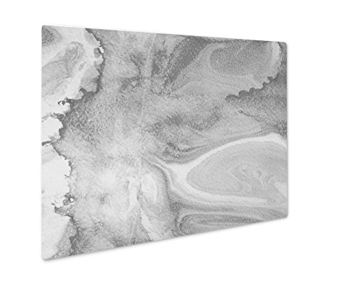 (Ashley Giclee Blue Bionic and Nature Patterns by Paint Stains On Paper Marb, Wall Art Photo Print On Metal Panel, Black & White, 16x20, Floating Frame, AG6074854)