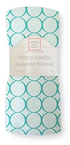 SwaddleDesigns Marquisette Swaddling Blanket Turquoise