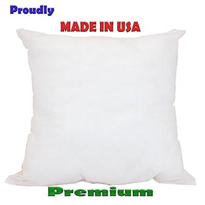 Mybecca - 12 X 12 Sham Stuffer Square Hypoallergenic Pillow Form Insert Polyester, Standard / White