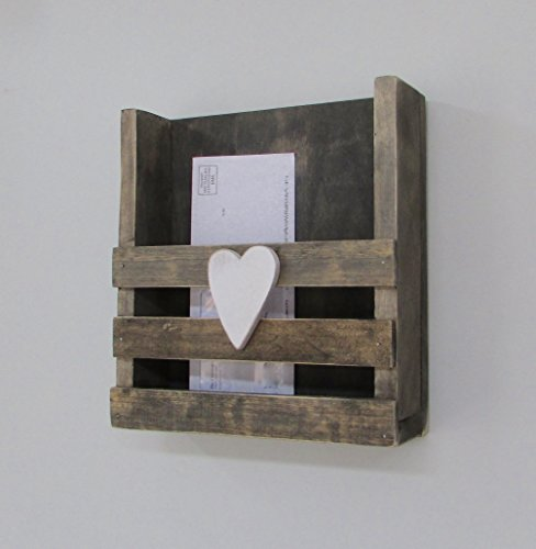 Mail Holder Magazine Book Letter Organization Organizer Storage Letters Magazines Wood Rustic Family Farmhouse Reclaimed Barn Wood Cubby