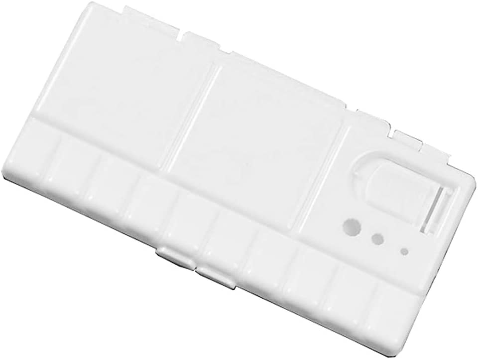 RROVE Paleta de Pintura Caja de Paleta de Pintura plástica Blanca Bandeja de Acuarela con 25 Rejillas Tapa abatible Suministros de Herramientas de Arte Plegables