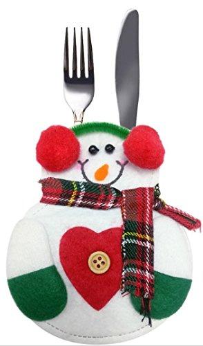 suyi Portaposate Natale Decorazione Natalizia a Buste da Ristorante Babbo Natale/puppazo/renna by Hi NingboshuyioutdooorproductsCo.Ltd