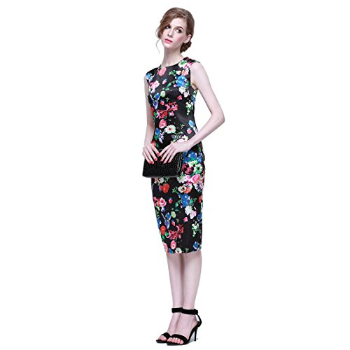 FCLM Women's Floral Slim Sexy Hip Package Clubwear Party Pen...