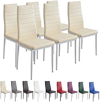 Albatros Milano - Juego de 6 sillas de Comedor, Beis, Modelo 2707 ...