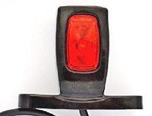 24//7Auto colore: arancione per rimorchio // camion // camper bianco e rosso 24 V // 12 V Set 2 luci segnaletiche laterali per paraurti posteriore