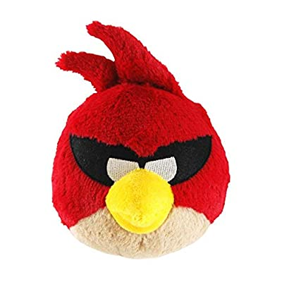 "Commonwealth Toys Angry Birds Space 5"" Basic Plush Super Red Bird: Toys & Games"