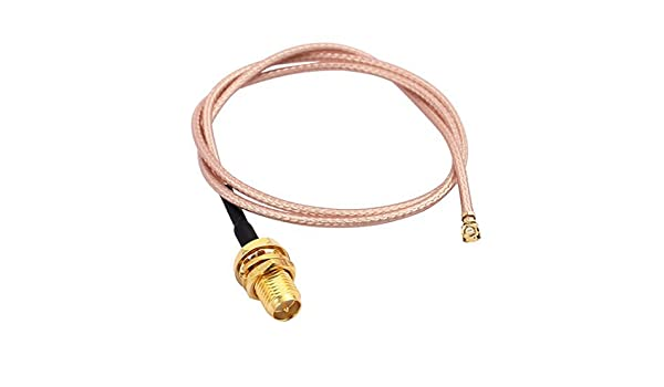 Amazon.com: eDealMax RG178 soldadura alambre SMA IPEX Girar interno de la aguja de la antena WiFi Cable Flexible de 40cm: Electronics