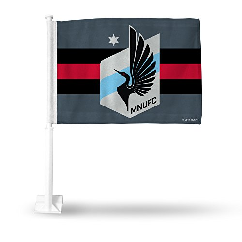fan products of MLS Minnesota United FC Car Flag, Gray, 19