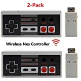 NES Wireless Controller 2 Pack,Tankey New Version Rechargeable Wireless Controller for NES Classic Mini Edition System,Portable Wireless NES Mini Classic Gamepads Controller with Sensitive Buttons