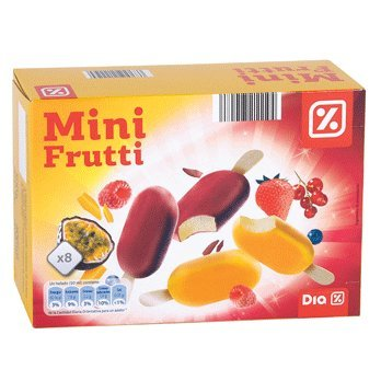 DIA - Helado Mini Frutti Caja 8 Uds 300 Gr