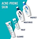 CeraVe Acne Foaming Cream Cleanser | Acne Treatment Face Wash with 4% Benzoyl Peroxide, Hyaluronic Acid, and Niacinamide | Cream to Foam Formula | 5 Oz