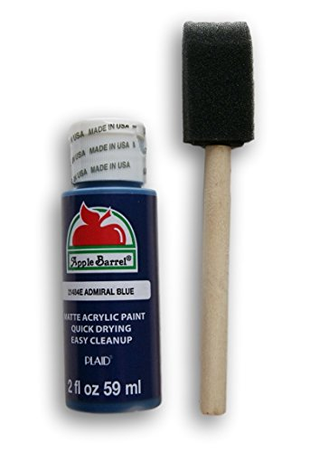 Apple Barrel Acrylic Paint Set - Admiral Blue with Foam Starter ()