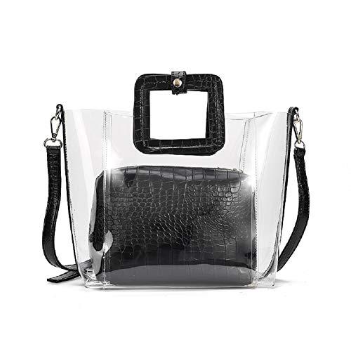 Clear Totes Handbag with Strap PVC Waterproof Purse Transparent Shoulder Bags Beach Crossbody Bags ()