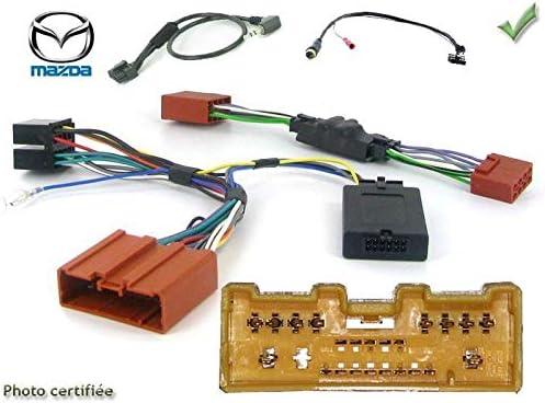 Interface Commande au volant MZ1J pour Mazda 6 07-09 Avec ampli Bose JVC ADNAuto