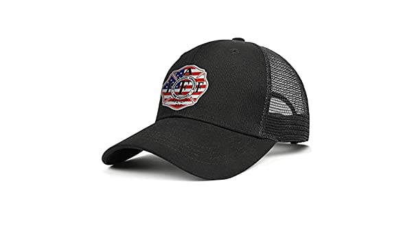 IAFF Decal American Flag Unisex Baseball Cap Ultra Thin Sun Caps Adjustable Trucker Caps Dad-Hat