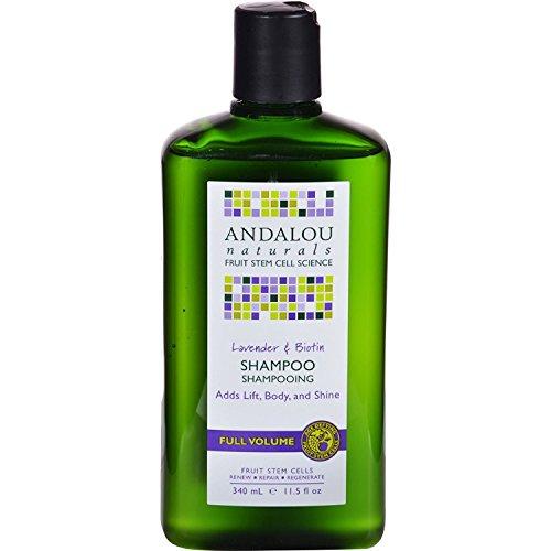 2 Packs of Andalou Naturals Full Volume Shampoo Lavender and Biotin - 11.5 Fl Oz (Andalou Lavender & Biotin Full Volume Shampoo)