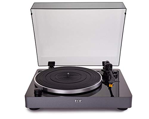 ELAC Miracord 50 Turntable, Glossy Black with Silver Base (MRC501-GB)