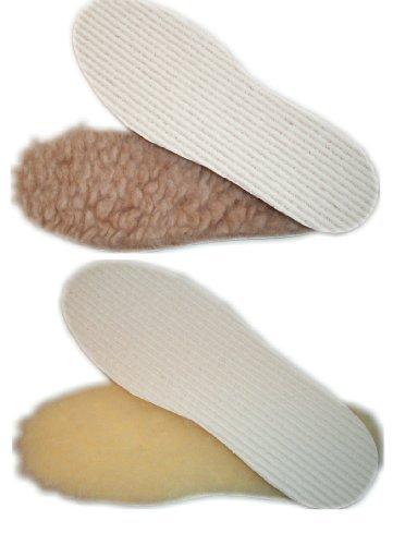 Plantilla para zapatos lana virgen con antideslizante Revestimiento - natural, 41 / 42