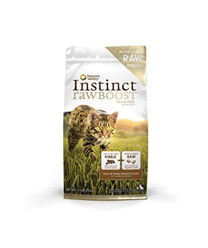 Nature's Variety Instinct Raw Boost Grain Free Duck & Turkey Meal Formula Dry Cat Food, 5.1 lb. Bag (Raw Canned Cat Food compare prices)
