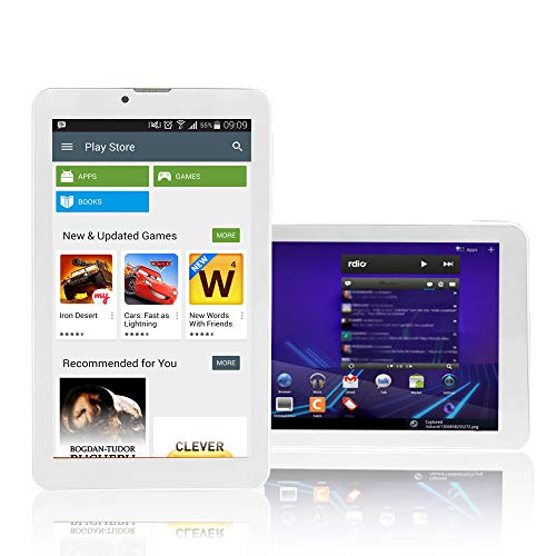 Indigi White 7.0inch Android 4.4 Tablet with Bluetooth+WiFi+Google Play Store