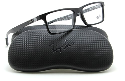 Ray-Ban RX8901 Rectangular Carbon Fiber Prescription Glasses 5610 - - Carbon Fiber Glasses Ray Ban