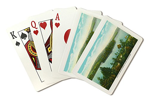 Chestertown, New York - View of Loon Lake and Blythewood Island (Playing Card Deck - 52 Card Poker Size with Jokers) by Lantern Press