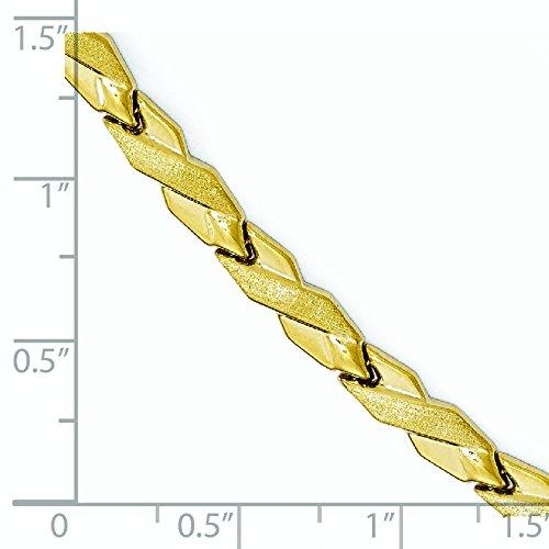 """10 k Bracelet poli et brossé 7 """"Haute qualité-Or Or 9 Carats JewelryWeb que"""