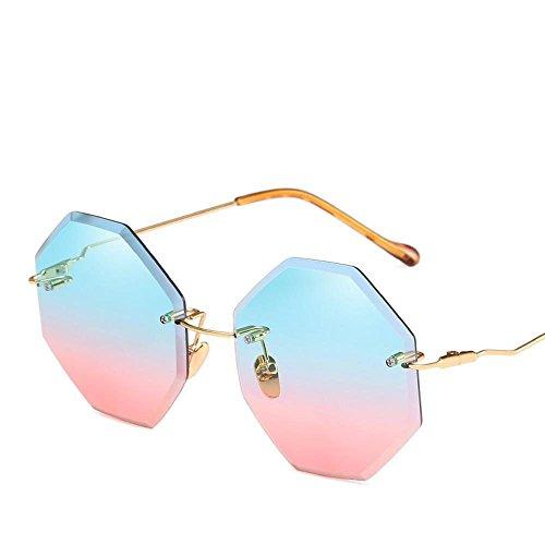 Corte Marco del B Axiba la Doble de Damas Color Sol sin Moda Gafas película océano creativos de de de pie Gafas Moda de Sol Actuales Regalos IOOq6w4