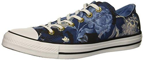 Converse Women's Chuck Taylor All Star Floral Print Low TOP Sneaker, Mason Blue/Light Blue, 5 M US (Converse Flowers Women)