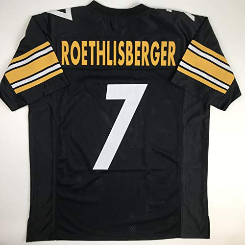 Ben Roethlisberger Authentic Jersey - Unsigned Ben Roethlisberger Pittsburgh Black Custom Stitched Football Jersey Size Men's XL New No Brands/Logos