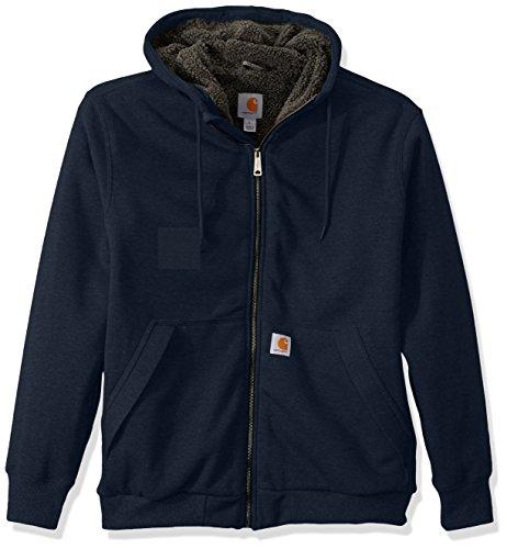 - Carhartt Men's Rain Defender Rockland Sherpa Lined Hooded Sweatshirt, New Navy, 2X-Large