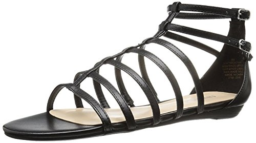 Nine West Women's Aboutthat Synthetic Dress Sandal, Black, 41.5 B(M) EU/8.5 B(M) UK