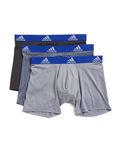 adidas Mens 3 Pack Climalite Performance Boxer Briefs (Medium, -