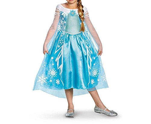 Roberoody Elegant Nice Frozen Deluxe Girl's Costume, 7-8 As Shown10-12Standard (Kids Costumes Hire Melbourne)