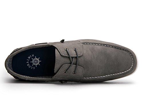 Global Vinna Globalwin Man Tillfälliga Loafers Snörning Klassiska Drivande Båt Skor Grey1663
